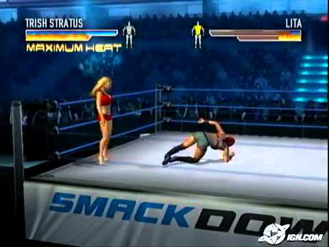WWE WrestleMania 21 Xbox Trish Stratus Strips Lita to bra and panties