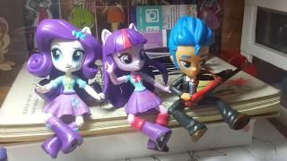 Búp bê My Little Pony Equestria Girls minis - Rarity, Twilight và Flash !!!! Unbox hộp bưu kiện !