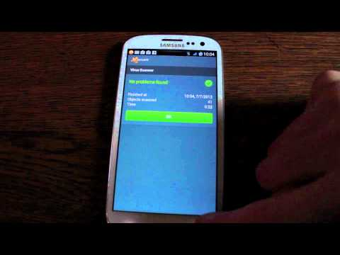 Avast! Mobile Anti-Virus for Android - Androidizen used on Samsung Galaxy S3