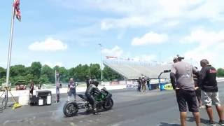 Kawasaki H2 Drag Racing Test n Tune with the Gadson Team at the WPGC DC Bikefest