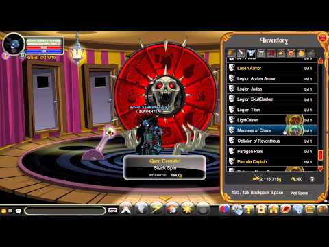 AQWorlds - Wheel of Doom! 40 Spins! (Got Doom Souleater Armour!)