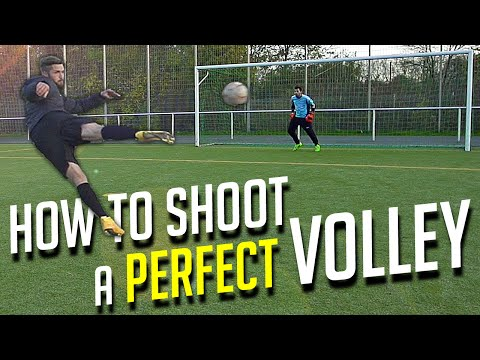 How to Shoot a Perfect Volley – Football Soccer Tutorial by freekickerz