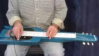 Lap Steel Lessons - Blues Licks Vol. 1 with Dave Anderson www.OnlineLessonVideos.com