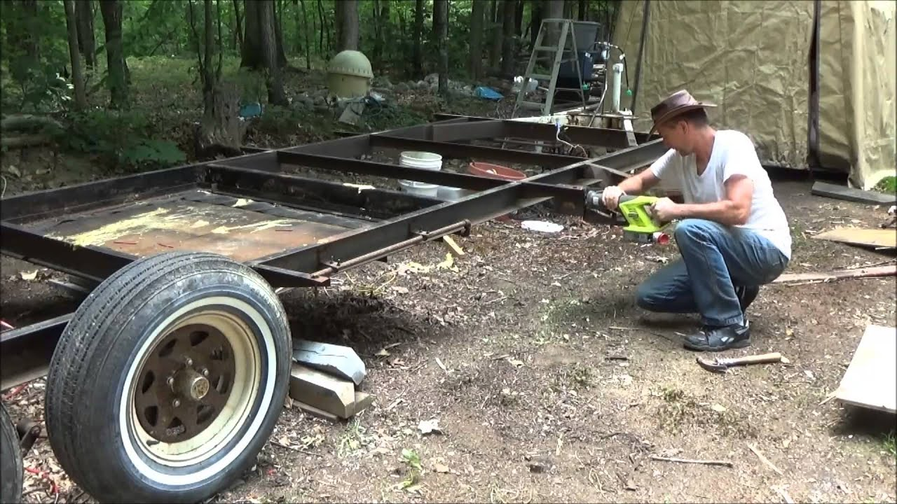 Preparing My Old Camper Frame For A Tiny House Youtube