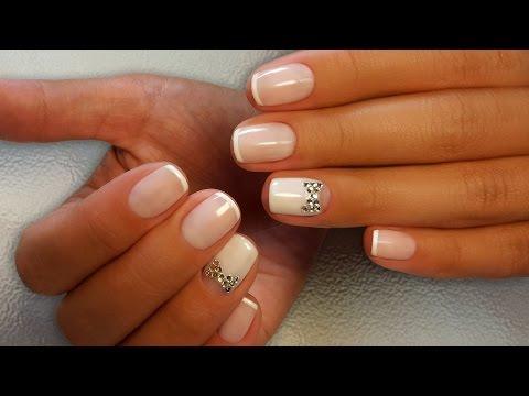 Дизайн ногтей французский маникюр для коротких ногтей