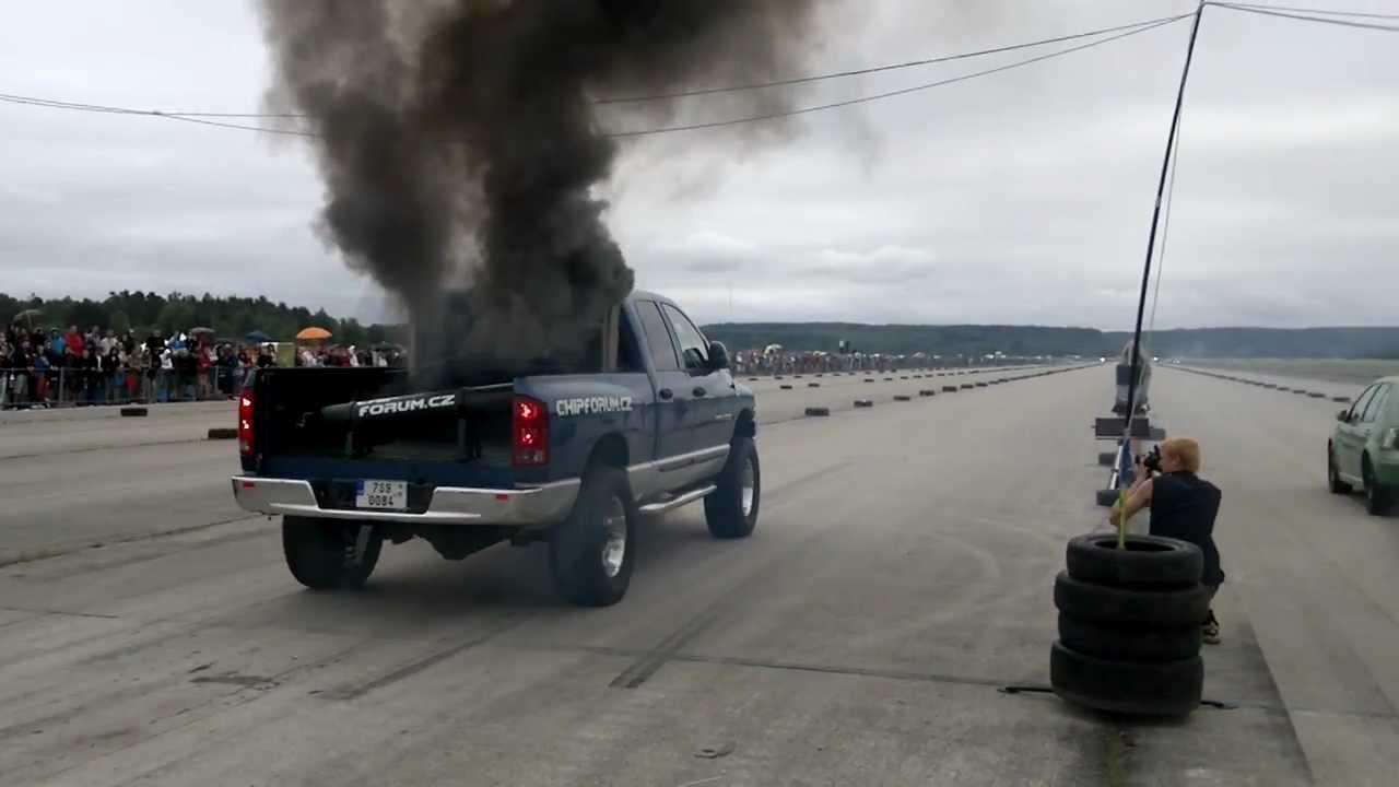 dodge ram nitro diesel  hp launching smoke youtube