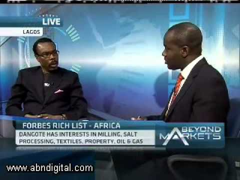 Aliko Dangote Listed as Richest Man in Africa