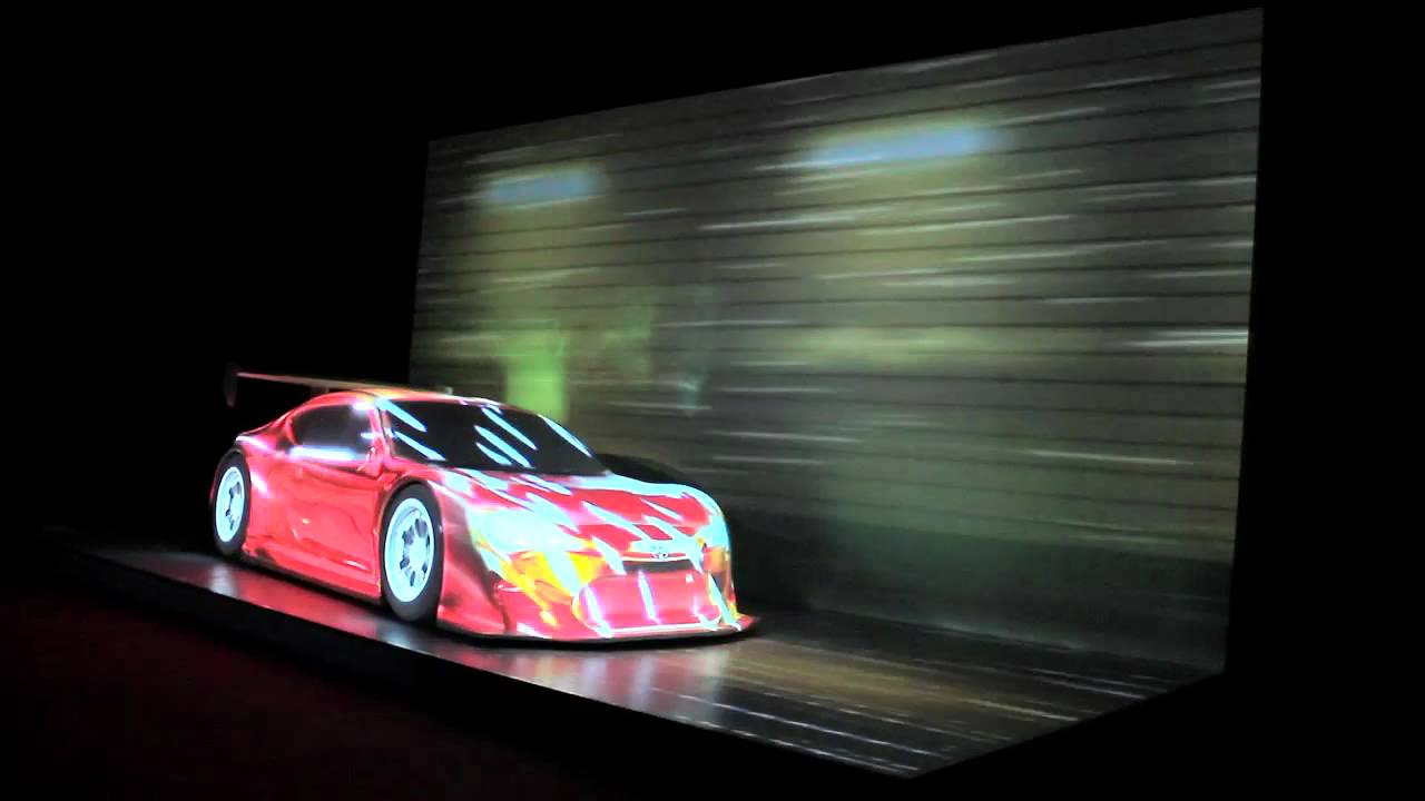 3d projection mapping on the toyota 86 using hippotizer