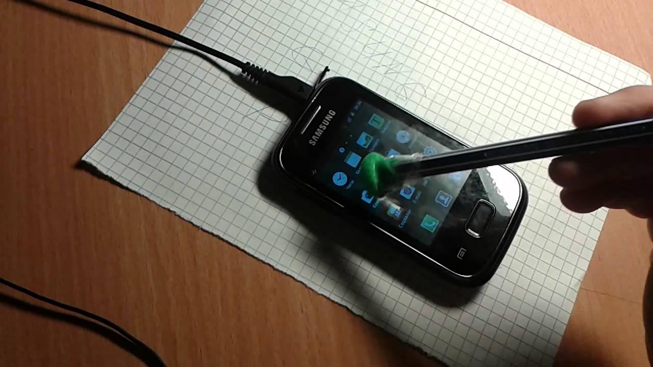 как сделать сенсорный телефон из бумаги видео