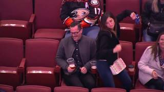 Anaheim Ducks Fans Dance Battle at Honda Center