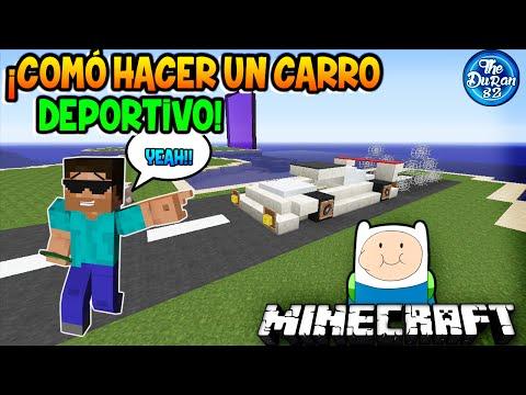 Minecraft: ¡Cómo Hacer Un Carro/Coche Deportivo Que