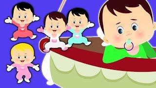 cinq petits bébés | enfants comptines collection | rimes françaises | Five Little Babies