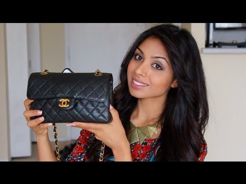 handbag review chanel small classic flap bag youtube. Black Bedroom Furniture Sets. Home Design Ideas