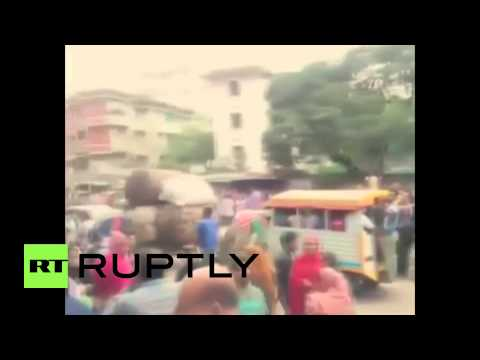 Nepal: Devastating aftermath of Nepalese earthquake captured on mobile phone