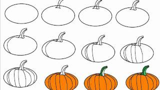 pumpkin drawing step by step. how to draw a halloween pumpkin step by drawing tutorial
