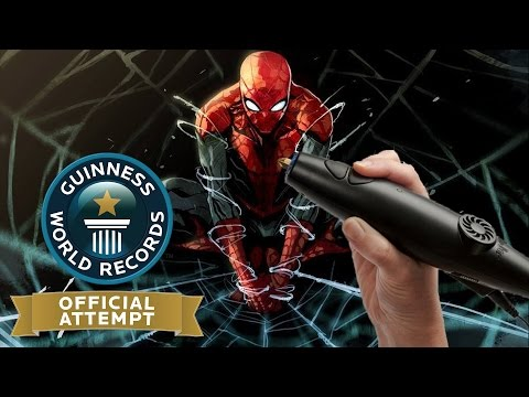 3D Printing Pen - Spiderman - World Record Attempt