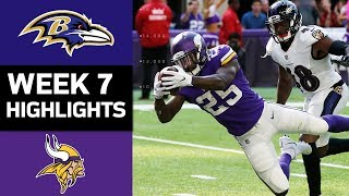 Ravens vs. Vikings | NFL Week 7 Game Highlights