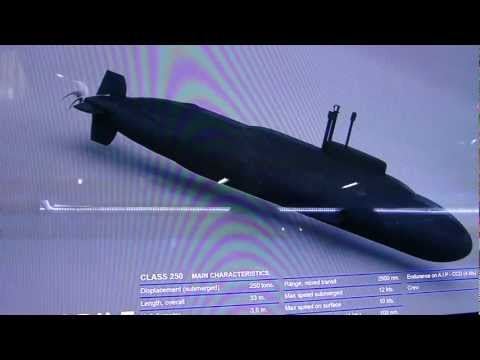 Submarino Chileno Crocodile/Midget submarine . (1080p HD)