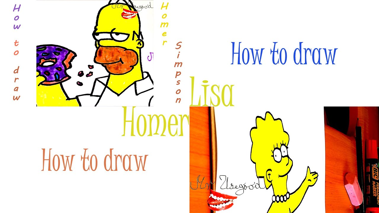 Simpson Drawings Step by Step Simpson Full Body Step by