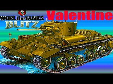 WoT Blitz обзор Valentine британский танк гайд новичкам британская ветка World of Tanks Blitz#62