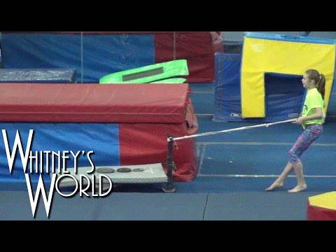 Gymnastics Morning Workout | Vault Training | Whitney Bjerken