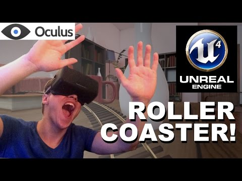 FIRST DK2 REVIEW! Unreal Engine 4 Roller Coaster for the Oculus Rift