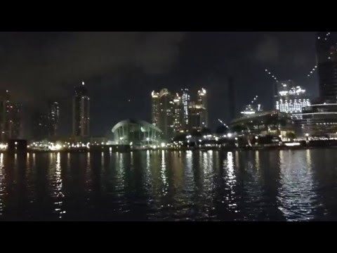 Taj Dubai, Dubai Opera House and Burj Khalifa at night