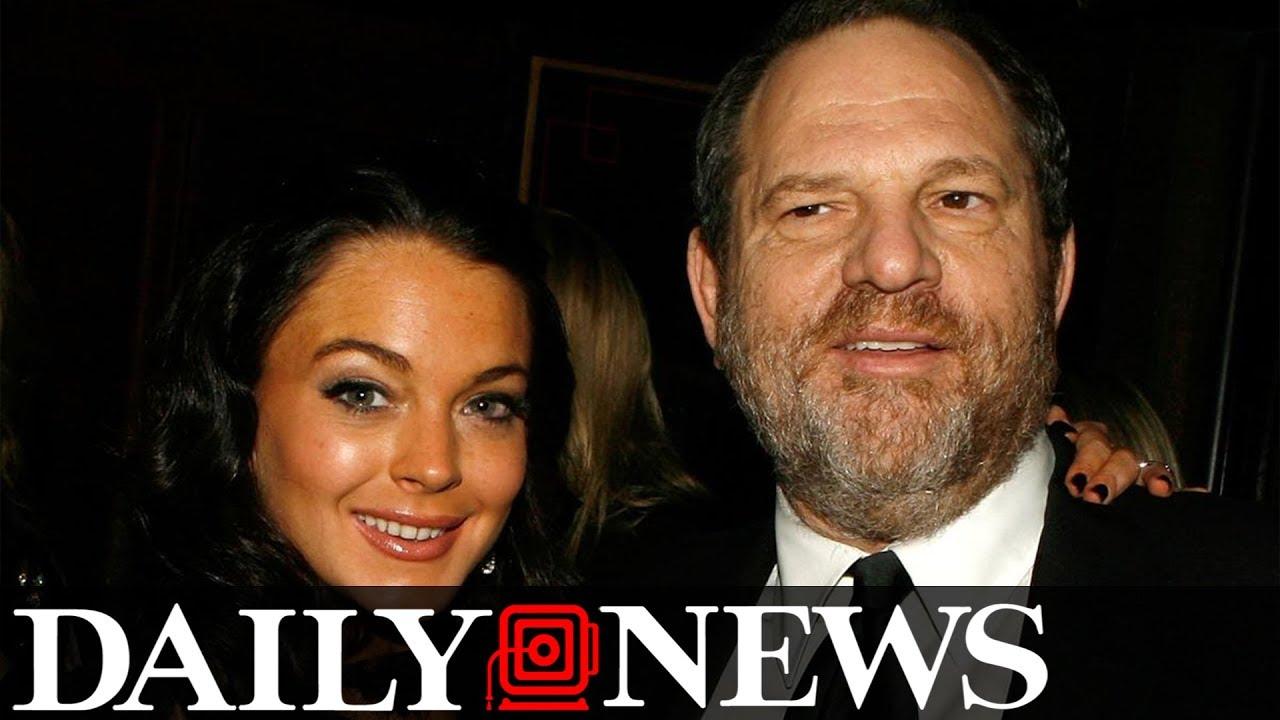 Lindsay Lohan defends Weinstein