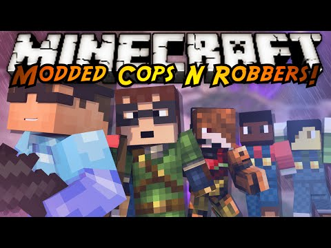 Minecraft Modded Cops N Robbers : SUPER SMASH BROTHERS!
