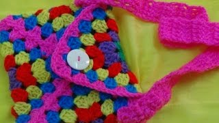 CROCHET GRANNY SQUARE BAG-1