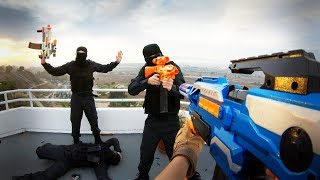 Nerf War FPS: HUGE Mansion Battle