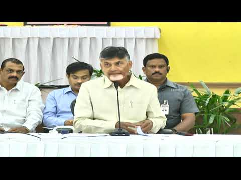 Honorable Chief Minister of Andhra Pradesh Press Conference at  Praja Vedhika Live