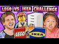 KIDS VS ADULTS: Lego VS Ikea Build Challenge!