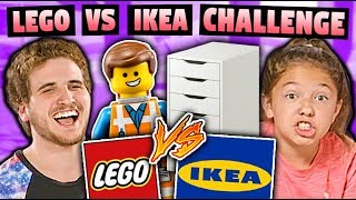 KIDS VS ADULTS: Lego VS Ikea Build Challenge!