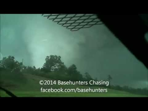 April 28, 2014 Large Louisville, Mississippi Tornado - Dashcam