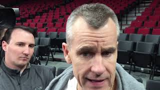 Thunder - Billy Donovan on Blazers