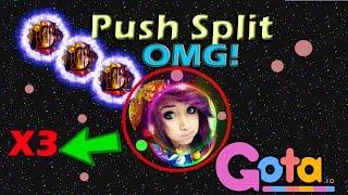 Gota.io//PUSH SPLIT X3 OMG!!!// Best Moments 16#