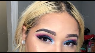 FIRST UPLOAD !! | Quick Colorful Eye Look using the Morphe James Charles Palette