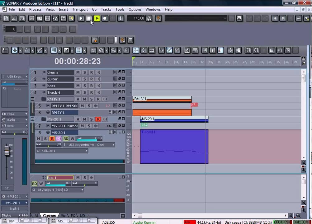 9 Создание музыки в Sonar с помощью VST-инструментов(часть2) - YouTube