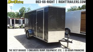6x12 Pace American Enclosed Trailer [Charcoal]