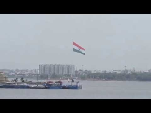 Largest india's flag hosted in Hyderabad 290 feet high