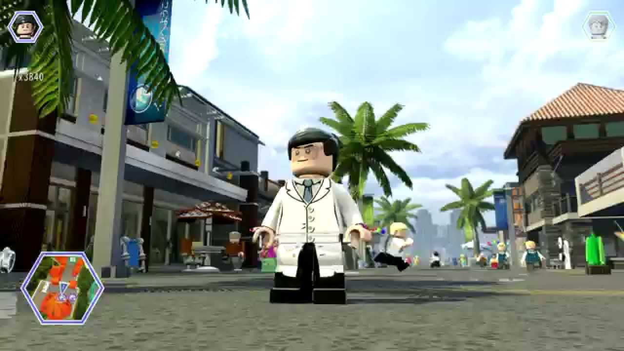 Lego Jurassic World Jimmy Fallon Free Roam Gameplay Youtube