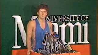 Bernie Kosar announces he'll leave the University of Miami for the Cleveland Browns