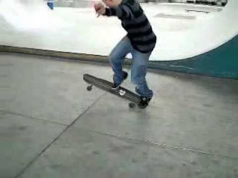 360's flip on longboard