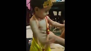 baby walking? sing krishna song.easy children song in kannada