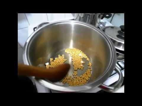 Как жарить попкорн - видео