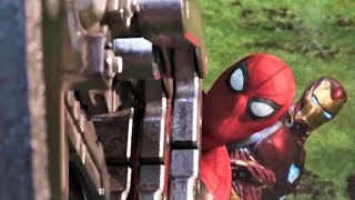 Spiderman And Ironman All Fight Scene (HD) | Avengers Infinity War Movie Scenes |