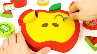 ♪ Nursery Rhymes Songs | Learn Color How to make Kinetic Sand Apple Cake for kids.