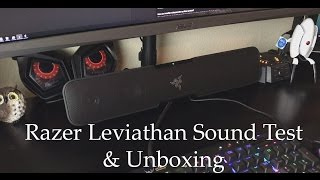 Razer Leviathan   Sound Test & Unboxing