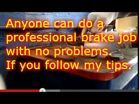 How to replace the front brakes on a Jeep Cherokee